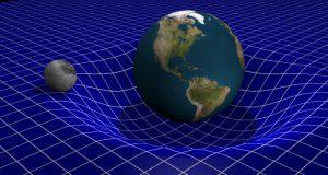 Tierra en el espacio-tiempo